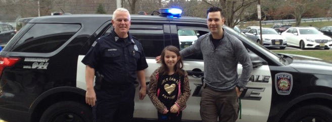 ABS Congratulations to this months recipient of the Hillsdale Police Ride to School Program