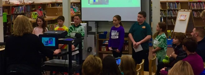 ABS Our 4th grade Green Team Members gave a very informative presentation at our BOE Meeting tonight