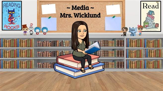 Mrs. Wicklund's Media Center bitmoji