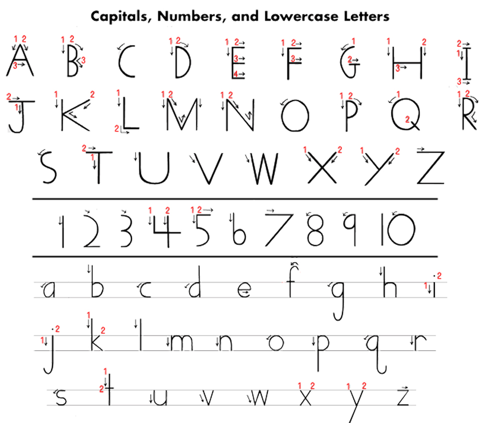 Universal image inside handwriting without tears printable